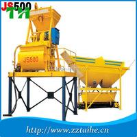 Industrial horizontal mixer,twin shaft concrete mixer,JS500 dry mix concrete