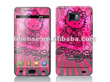 Hello Kitty Skin Sticker for Samsung i9100 from factory! Mixed designs&OEM are available!