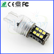 800lm Car t20 7443 w21/5w SMD 3528 LED car for turn light reverse lights parking car light 12V 2835smd 15 smd beads