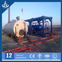 Trailer Mounted oil and gas liquid filter separator for wellhead testing