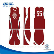 High quality new arrival sublimated basketball league uniforms