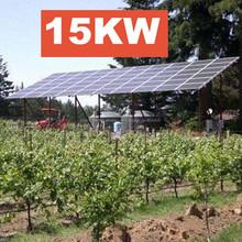 Unidad completa 15kw sistema de energía solar