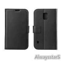High Quality PU Leather Credit ID Card Holder Foldable Folio Case Cover for Samsung GALAXY GALAXY S5 Active G870