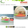 YH-8039 Seperate style pe wicker furniture design sunbed
