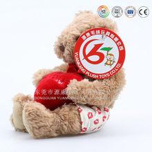 ICTI audits OEM factory valentine plush dog with heart and valentine bears wholesale