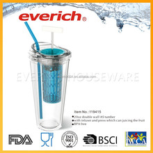 Hangzhou Everich Alibaba China Juice Cup With Straw And Infuser