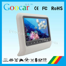 "Fashionable 10.1"" inch car dvd player headrest with Support MP3, WMA, AC3, EAC3, M4A and other audio formats"