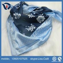 Ladys' fashionable square silk twill scarf 90*90cm