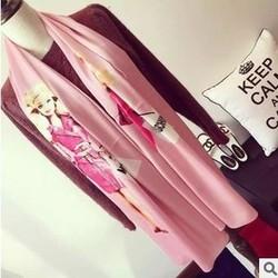 2015 European and American fashion magazines, women bags pink silk scarf scarves FZ29