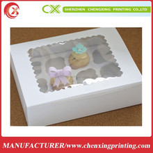 Professional customized chosen color for cardboard cupcake box