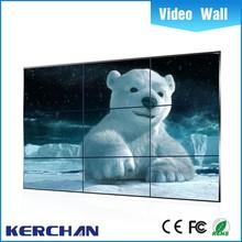 Ultra narrow bezel seamless Full HD vga dvi sdi input 8mm bezel 46 inch lcd video wall from Shenzhen Kerchan