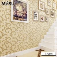 Mesu PVC Wallpaper European Style Leaf Scroll Wallpaper Beatrix