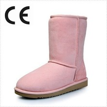 Classic Pink Color Winter Snow Woman Boot