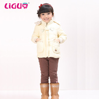 Feather down filled jacket child winter kids clothing wholesale