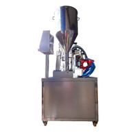 HONEY adjustable 20-250ml manual pipes filling sealing machine with CE