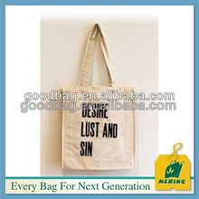 small 10oz cotton canvas zipper tote bag for travel