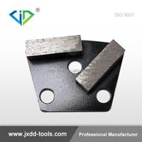 Double Segments Trapezoid Metal Disc Diamond Concrete Floor Polishing Pads