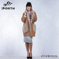 BORTH(R) 2015New styles Fashion women's Wool Cashmere Overcoat