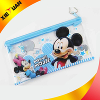 2015 Alibaba china wholesale promotional custom pvc pencil bag