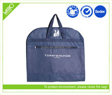 Customized logo color reusable foldable nylon/non woven hanging garment bag travel