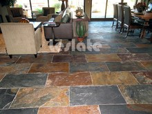Various types of slate paving stone