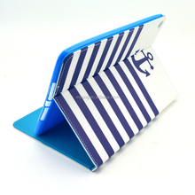 Stripe Leather Case for iPad 6 air 2 , leather foldable stand case for iPad 6