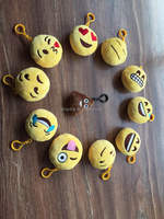 Hot Sale In Stock High Quality 12style 10*10cm plush emoji keychain welcome toy