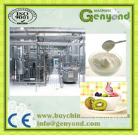 Fully automatic complete industrial flavored yogurt making machines with pouch package