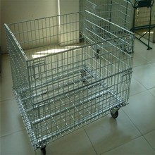 Chrome Plated Zinc Plated Wire Mesh Container Used