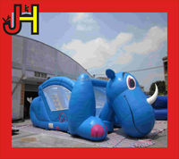 Giant dog inflatable animal slides,animal combo bouncer outdoor for fun