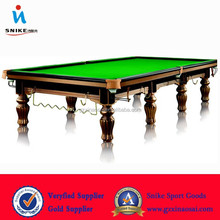 2015 Hot-selling new made Solid Wooden Slate 12ft cheap snooker table with billiard table lights for sale