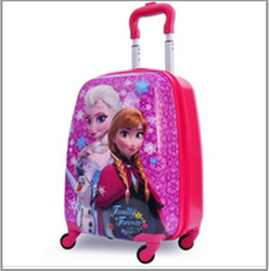 2015 hot sale personalized cartoon characters kids luggage