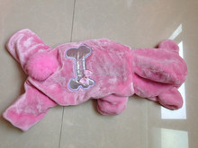 pink girl dog clothes dog overall with hood