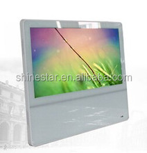 ultra thin 18.5 Inch WIFI totem AD LCD network player monitor with wall mounted