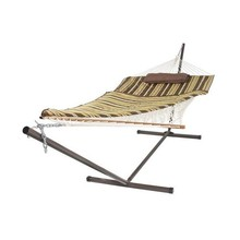 Top hot selling outdoor camping double hammock with stand
