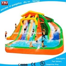 New China guangzhou inflatable water slide with pool