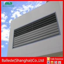 hot sale modern exterior aluminum louver windows with adjustable aerofoil blade