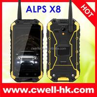 Wholesale Price 100% Original ALPS X8 Rugged Smartphone Waterproof Shockproof And Dustproof ALPS Dual SIM Card Power Adaptor