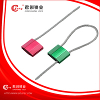 Pull tight one time use cable seal for shipping customs