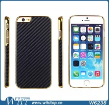 2015 New Arrival 4.7 Inch Mobile Phone Case for iPhone 6, PC Chrome Carbon Fiber Case for iPhone 6