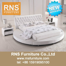 2015 RNS White Round Bed,Home Round Bed,Leather Round Bed A926