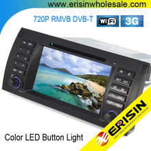 "Erisin ES1153B 7"" 1 Din Car DVD Player Car Multimedia System E39 X5"