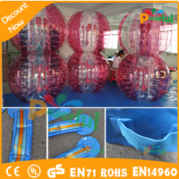 crazy sport!!! newly style 1.0mm PVC and TPU human bubble ball , bubble soccer , inflatabe bumper ball price