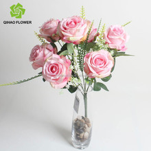 silk wedding rose flower factory wholesale artificial flower rose