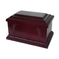 Asian desgin wooden funeral urn box for ashes