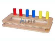 Montessori Toddler Imbucare Peg Box,Montessori materials,montessori teaching aids