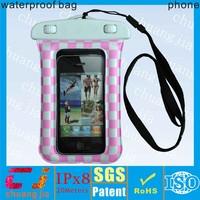 New design pvc waterproof smart phone bag for iphone