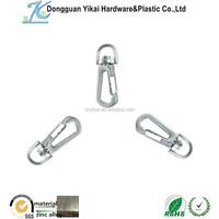 Yikai Bulk Sale Zinc Alloy D hook,Silver Connector Charm Hook,Snap Hook