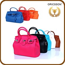 Wholesale Rose Red Leather women handbags Fashion Handbag