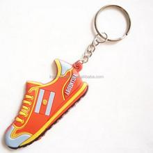 Fashion 3d soft pvc running shoes keychain pvc rubber keychain
